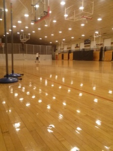 Princeton's nearly empty gym